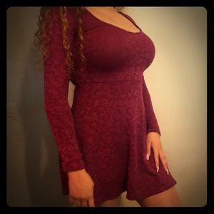 Wine mini dress
